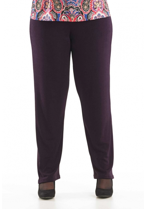 Straight Leg Velvet Trousers
