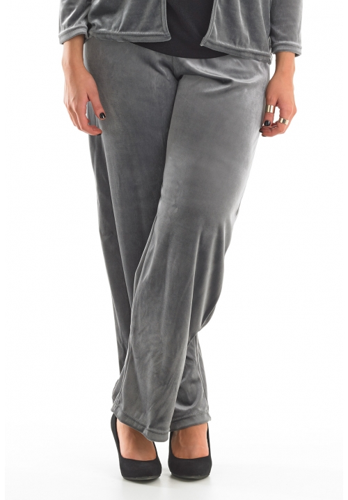 Velour Wide Leg Trouser
