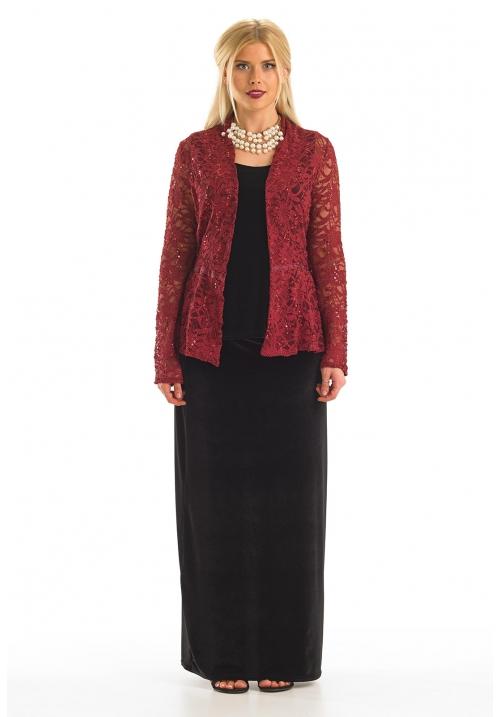 A-Line Velour Maxi Skirt