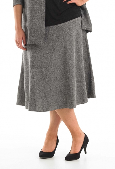 Six Panel Tweed Skirt
