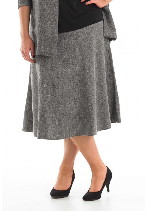 Six Panel Tweed Skirt