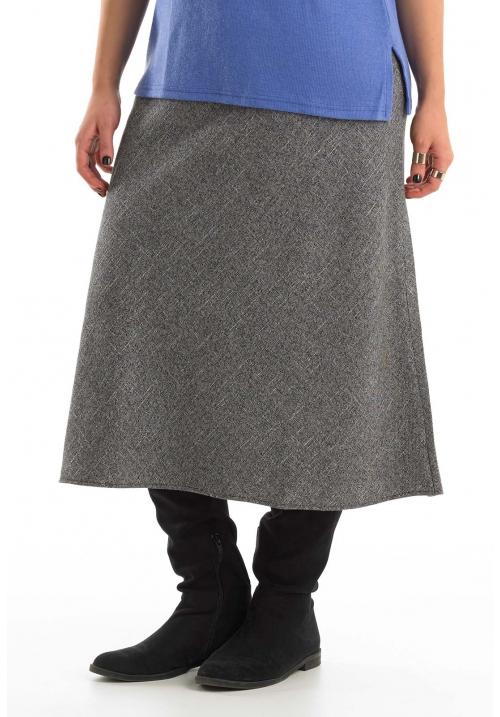 Bias Cut Tweed Skirt