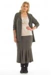 Herringbone Circular Hem Skirt