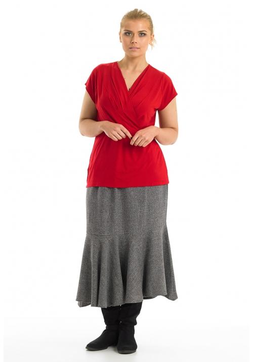Tweed Circular Hem Skirt