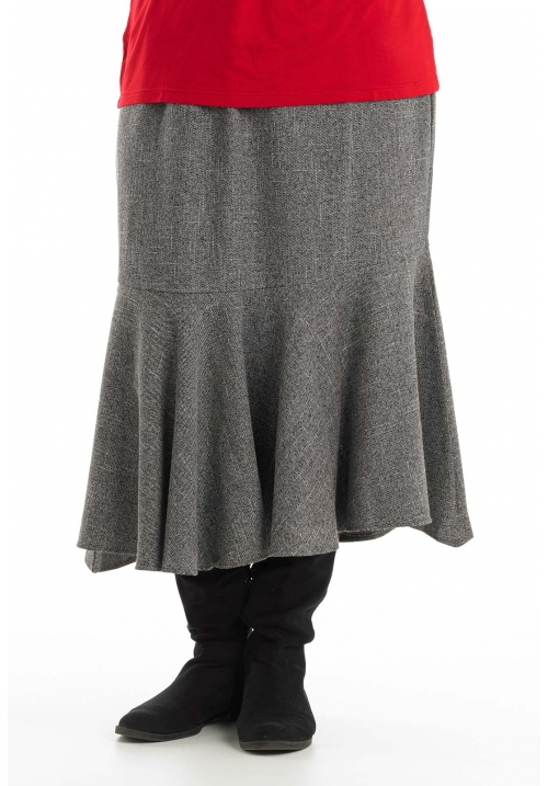 Tweed Circular Hem Skirt