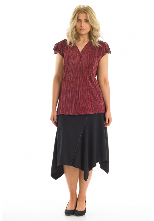 Crystal Pleat Top