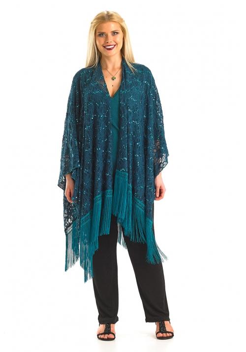 Fringed Lace Shawl / Wrap