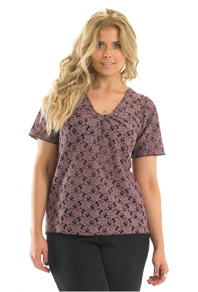 Lace Top With Back Detail