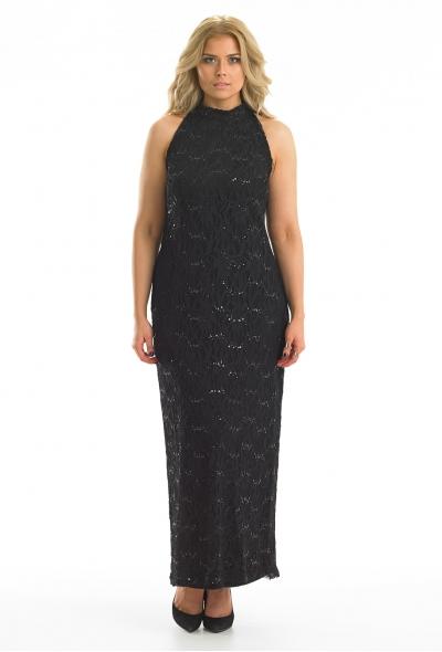Lace High Neck Maxi Dress