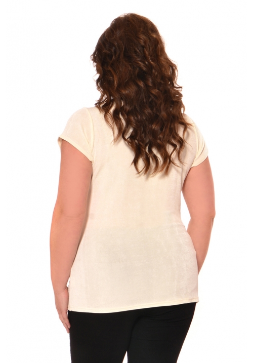 Cap Sleeve Mock Wrap Top