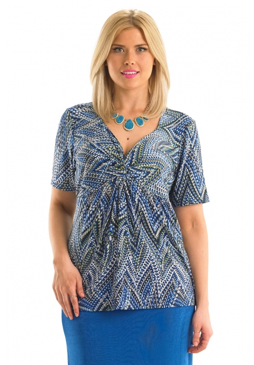 Knot Detail Printed Top